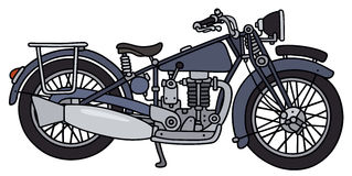 Vintage blue motorcycle Stock Photography