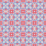 Vintage blue and orange pattern Stock Photography