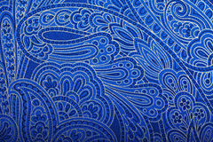 Vintage blue paisley wallpaper stock images