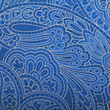 Vintage blue paisley wallpaper Stock Photos