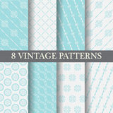 Vintage blue patterns, vector Royalty Free Stock Image