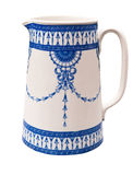 Vintage Blue Pitcher Stock Photo