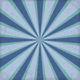 Vintage blue rising sun or sun ray,sun burst retro background design Stock Photography