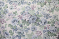 Vintage blue rose fabric Stock Images