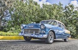 Vintage Blue Sedan Royalty Free Stock Photo