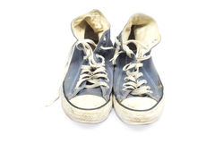 Vintage blue shoes isolated Stock Photos