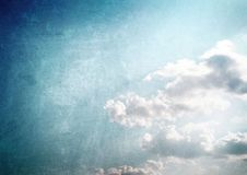 Vintage blue sky Royalty Free Stock Images