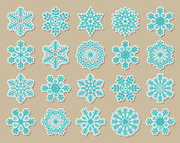 Vintage blue snowflakes Royalty Free Stock Image