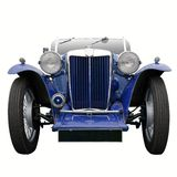 Vintage blue sports car Royalty Free Stock Images