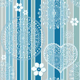 Vintage blue striped seamless pattern Stock Photos