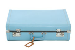 Vintage blue suitcase Royalty Free Stock Photo