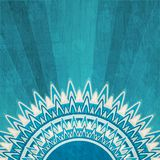 Vintage blue sun background with grunge effect Stock Photos
