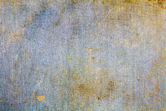 Vintage blue textile texture with scratches and dirty spots. Abstract background Stock Image