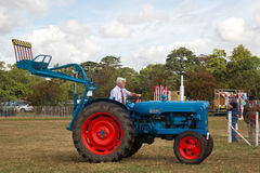 Vintage blue tractor Royalty Free Stock Image