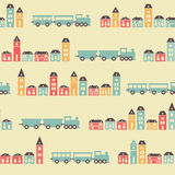 Vintage blue train pattern Stock Photos