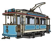 Vintage blue tramway Royalty Free Stock Photo