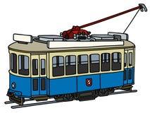 Vintage blue tramway Stock Image