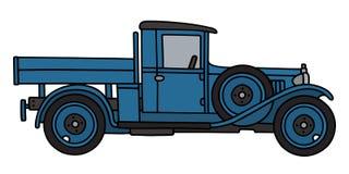 Vintage blue truck Stock Photos