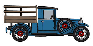 Vintage blue truck Royalty Free Stock Photo