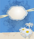Vintage blue vector background Stock Photography