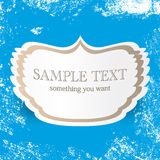 Vintage blue vector background with place for your text. retro cover and postcard design template  Royalty Free Stock Image