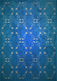 Vintage blue wallpaper Stock Photo