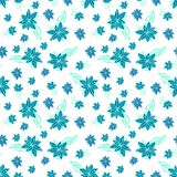 Vintage blue and white floral seamless pattern Royalty Free Stock Photos