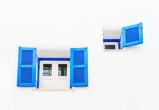 Vintage blue window Stock Photo