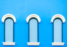 Vintage blue windows Royalty Free Stock Photos