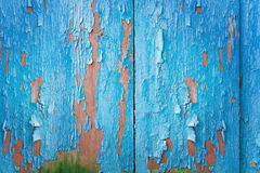 Vintage blue wood background with peeling paint Stock Photos