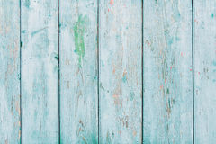Vintage blue wood background with peeling paint Stock Image