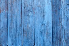 Vintage blue wood background with peeling paint stock photography
