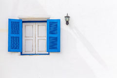 Vintage blue wood window Stock Photos