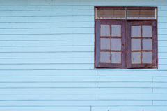 Vintage blue wood with windows Stock Image