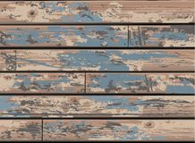 Vintage Blue Wooden Wall Background with Old Distr Stock Photography