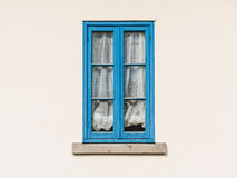 Vintage blue wooden window Royalty Free Stock Photography