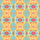 Vintage blue and yellow pattern Stock Photos