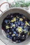 Vintage Blueberries Pan Royalty Free Stock Images