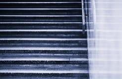 Vintage blueish horizontal jaggies stairs backdrop Royalty Free Stock Photos