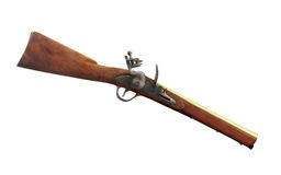Vintage blunderbuss gun isolated. Stock Photos