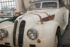 Vintage BMW from 1939. Exposed in Car Museum in Belgrade royalty free stock image
