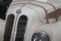 Vintage BMW from 1939. Exposed in Car Museum in Belgrade royalty free stock photo