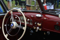 Vintage bmw sports car interior Stock Photography