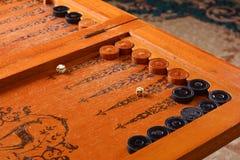 Vintage board game backgammon Stock Photos