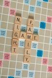 Vintage Board Games - Scrabble stock image