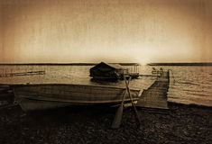 Vintage Boat Dock Royalty Free Stock Photos