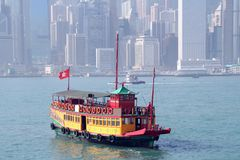 Vintage boat in Hong Kong Stock Photos
