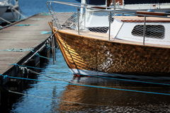 Vintage boat is moored Stock Photography