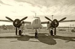 Vintage bomber Royalty Free Stock Images