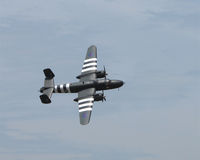Vintage bomber aircraft stock photography